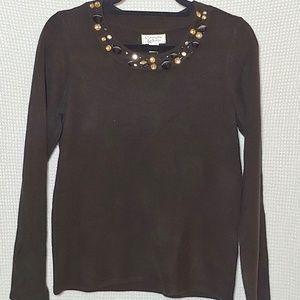 Christopher & Banks Black Sweater Women's Small